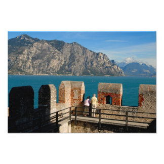 Italy, Malcesine, view from castle tower of Photo Print