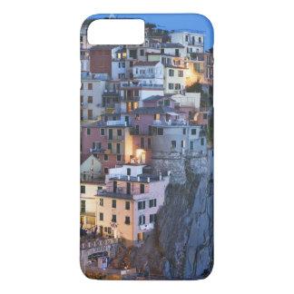 Italy, Manarola. Dusk falls on a hillside town iPhone 7 Plus Case