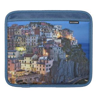 Italy, Manarola. Dusk falls on a hillside town Sleeves For iPads
