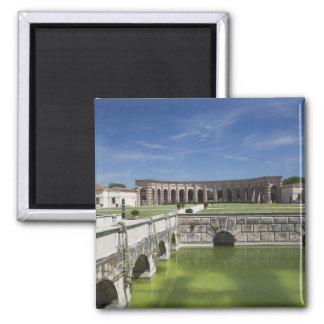 Italy, Mantua Province, Mantua. Courtyard, Magnet