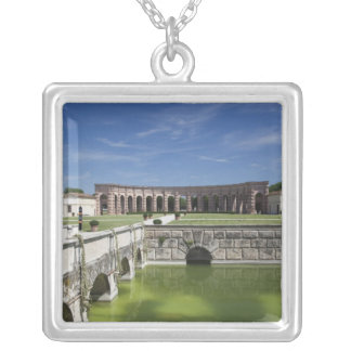 Italy, Mantua Province, Mantua. Courtyard, Silver Plated Necklace