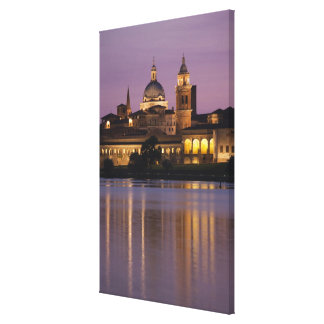 Italy, Mantua Province, Mantua. Town view and 2 Canvas Print