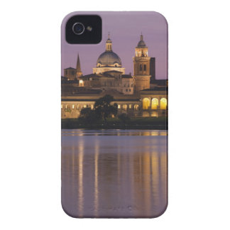 Italy, Mantua Province, Mantua. Town view and 2 Case-Mate iPhone 4 Case