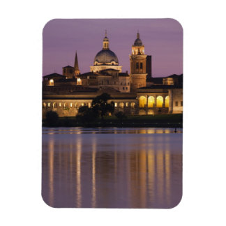 Italy, Mantua Province, Mantua. Town view and 2 Magnet