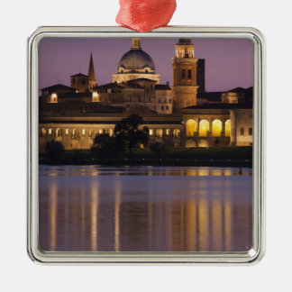 Italy Mantua Province Mantua Town view and 2 Christmas Tree Ornaments