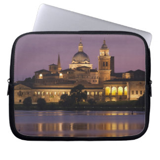 Italy, Mantua Province, Mantua. Town view and Computer Sleeve