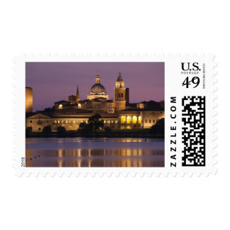 Italy, Mantua Province, Mantua. Town view and Postage