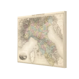 Italy Map 2 Canvas Print