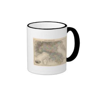 Italy Map 2 Ringer Coffee Mug