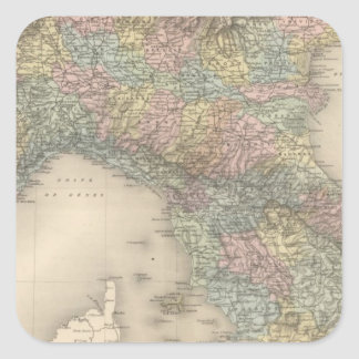 Italy Map 2 Square Sticker