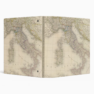 Italy Map 3 Ring Binders