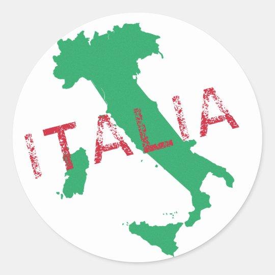 Italy map art with Italia Classic Round Sticker