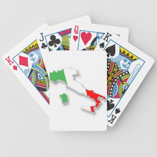 Italy Map Bicycle Poker Deck