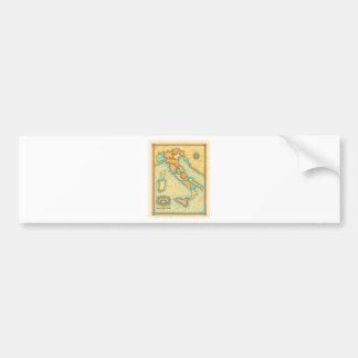 Italy Map Bumper Sticker