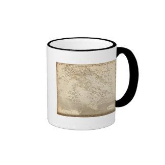 Italy Map by Arrowsmith Ringer Coffee Mug