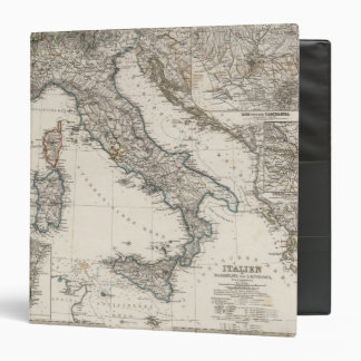 Italy Map by Stieler 3 Ring Binders
