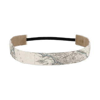 Italy Map by Stieler Athletic Headband