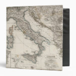 Italy Map by Stieler Binders