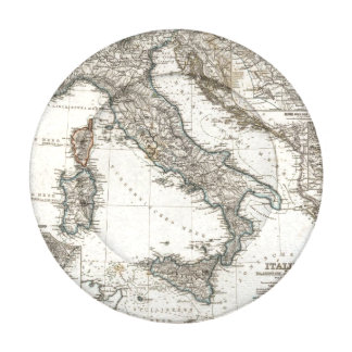 Italy Map by Stieler Button Covers