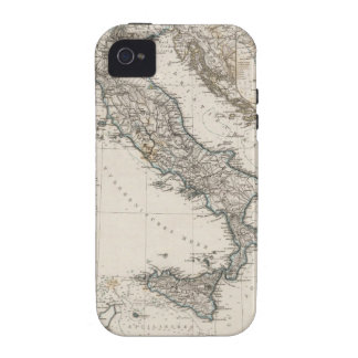 Italy Map by Stieler iPhone 4 Case