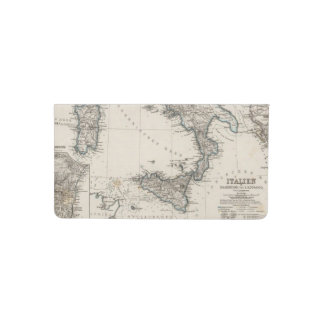 Italy Map by Stieler Checkbook Cover