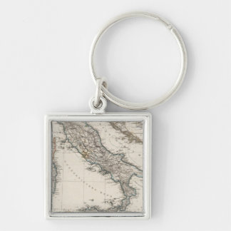 Italy Map by Stieler Keychain