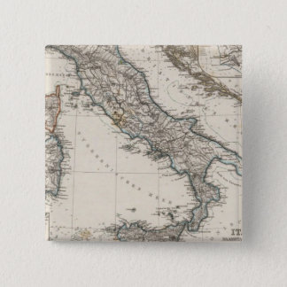 Italy Map by Stieler Pinback Button
