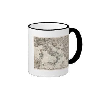 Italy Map by Stieler Ringer Mug