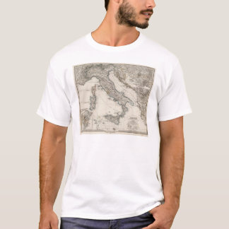 Italy Map by Stieler T-Shirt