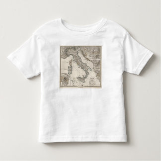 Italy Map by Stieler Toddler T-shirt