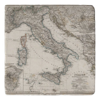 Italy Map by Stieler Trivet