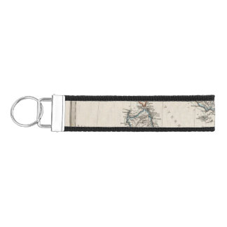 Italy Map by Stieler Wrist Keychain
