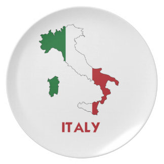 ITALY MAP DINNER PLATE