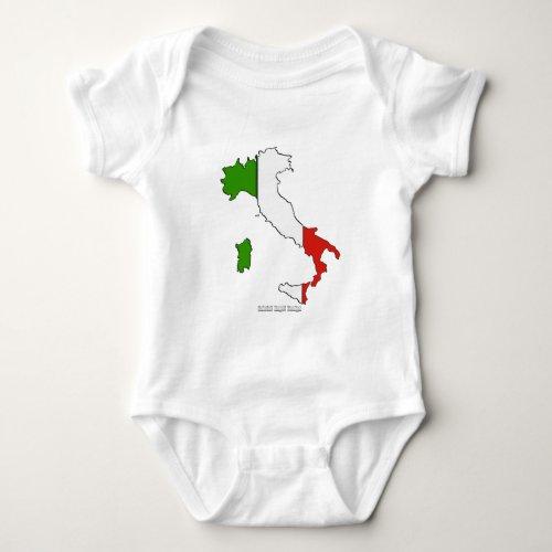 Italy Map Flag Baby Bodysuit