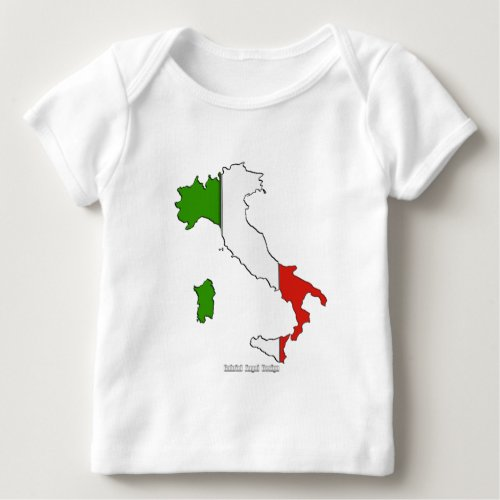 Italy Map Flag Baby T_Shirt