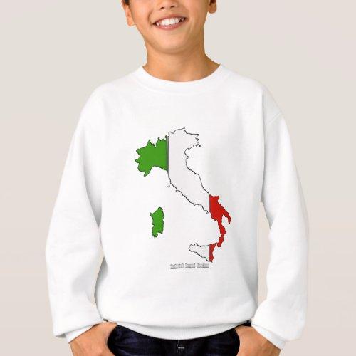 Italy Map Flag Sweatshirt
