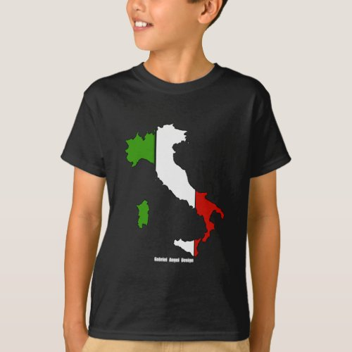 Italy Map Flag T_Shirt