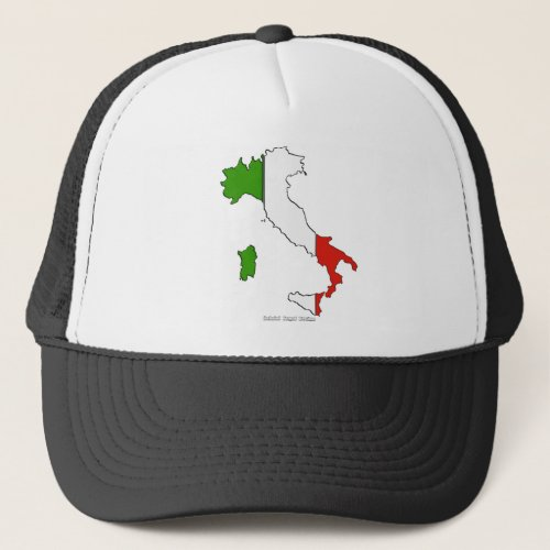 Italy Map Flag Trucker Hat
