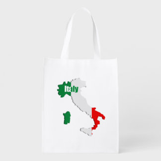 Italy map grocery bag