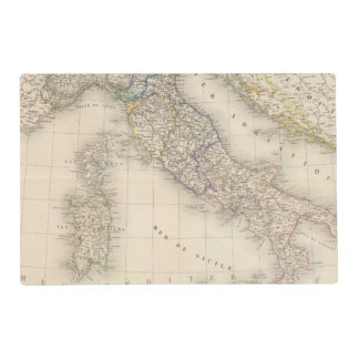 Italy Map Laminated Place Mat