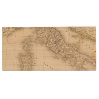Italy Map Wood USB 2.0 Flash Drive