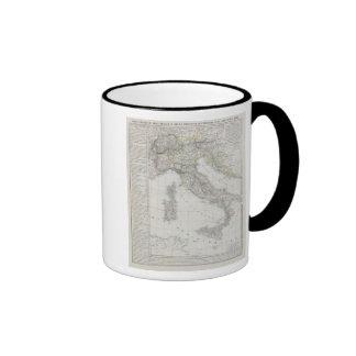 Italy map ringer coffee mug