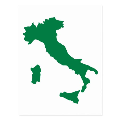 Italy map post cards