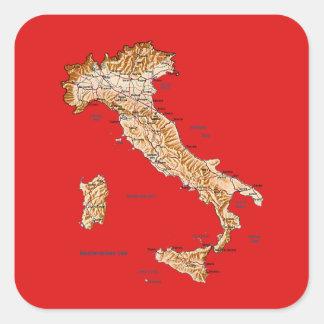 Italy Map Sticker