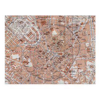 Italy - Milan City Map Postcards