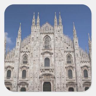 Italy, Milan Province, Milan. Milan Cathedral, 2 Square Sticker