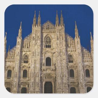 Italy, Milan Province, Milan. Milan Cathedral, Square Sticker