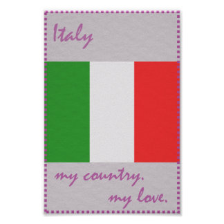 Italy My Country My Love Poster