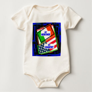 Italy,...my Heritage, USA,...my Country Baby Bodysuit
