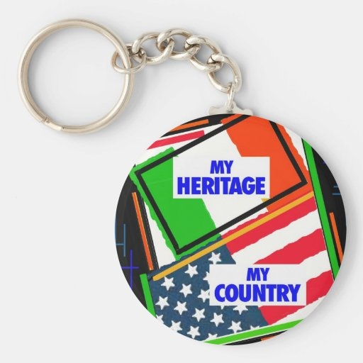 Italy,...my Heritage, USA,...my Country Keychains